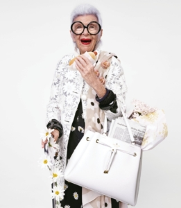 Iris Apfel for the Kate Spade Spring 2015 campaign