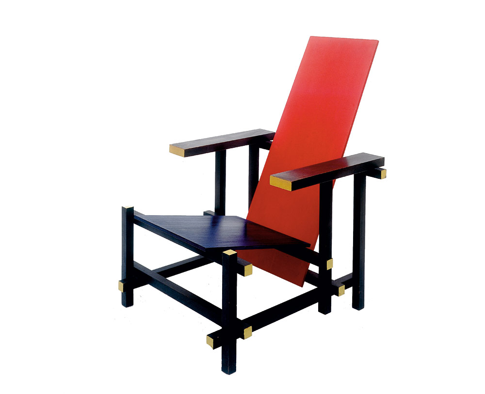 red-and-blue-chair-Gerrit- Rietveld-de-stijl-flur-magazine